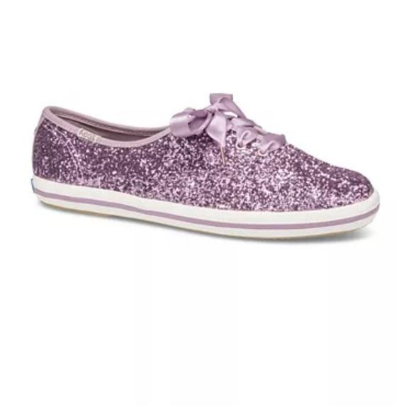 Kate Spade Purple Glitter Keds 85